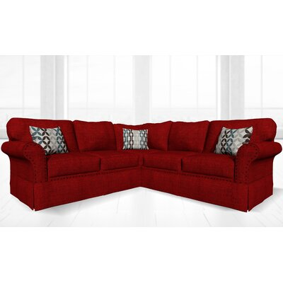Crossen Sectional Upholstery: Casandra Wine