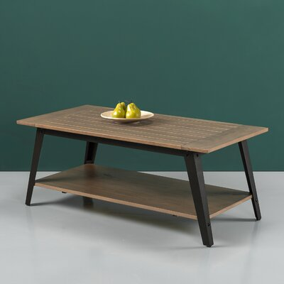 Cardoso Wood and Metal Coffee Table