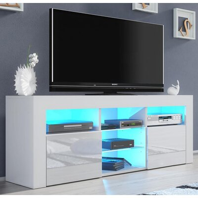 Ranallo Modern Body High Gloss Front 57 TV Stand Color: White