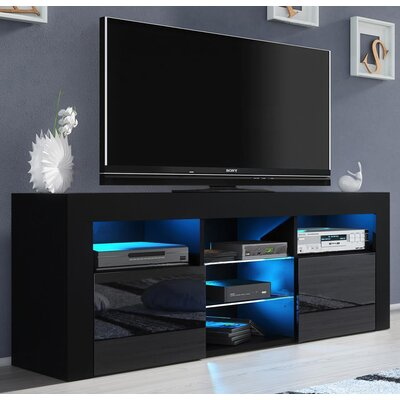 Ranallo Modern Body High Gloss Front 57 TV Stand Color: Black
