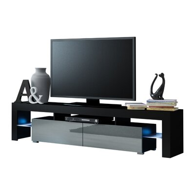 Ranallo Modern LED 79 TV Stand Color: Black/Gray
