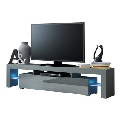 Ranallo Modern LED 79 TV Stand Color: Gray/Gray