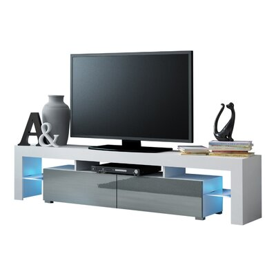 Ranallo Modern LED 79 TV Stand Color: White/Gray