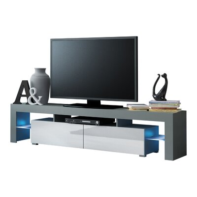 Ranallo Modern LED 79 TV Stand Color: Gray/White