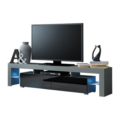 Ranallo Modern LED 79 TV Stand Color: Gray/Black