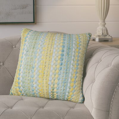 Belfort Braided Decorative Cotton Throw Pillow Color: Blue/Yellow