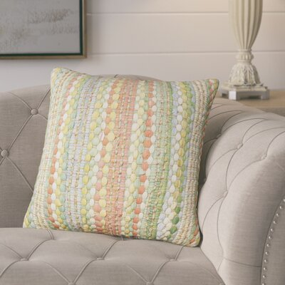Belfort Braided Decorative Cotton Throw Pillow Color: Jade Multi