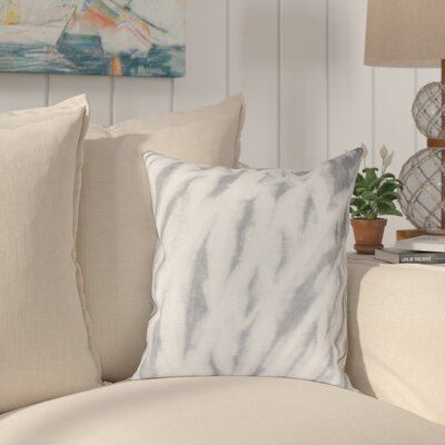 Grand Ridge Shibori Stripe Geometric Throw Pillow Size: 16 H x 16 W, Color: Gray