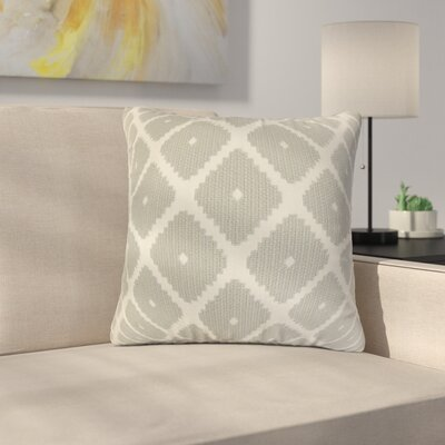 Strayhorn Geometric Cotton Throw Pillow Color: Dove