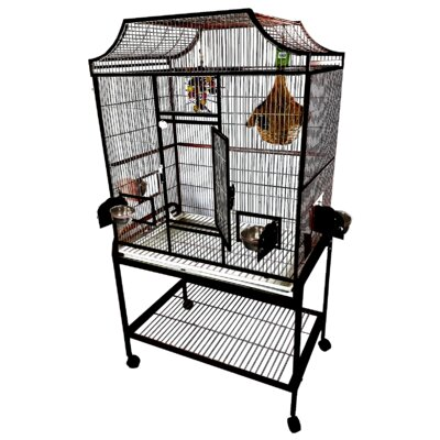 Elegant Flight Cage with Food Access Door Color: Black