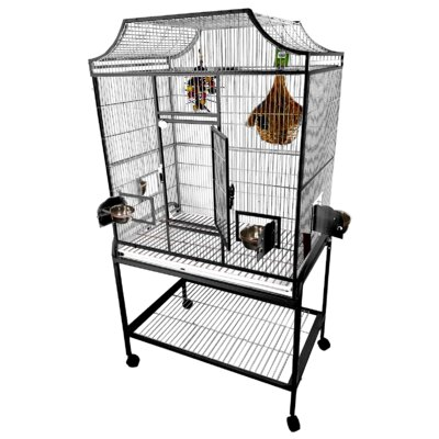 Elegant Flight Cage with Food Access Door Color: Platinum