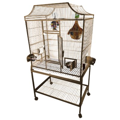 Elegant Flight Cage with Food Access Door Color: Sandstone