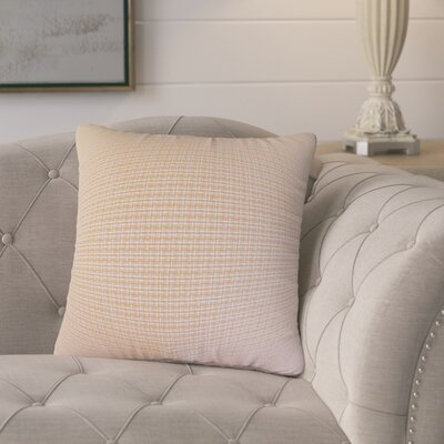 Charles Plaid Cotton Throw Pillow Color: Orange