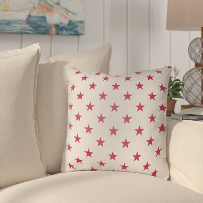 Fayetteville Americana II Indoor/Outdoor Throw Pillow Size: 20 H x 20 W x 4 D, Color: Red