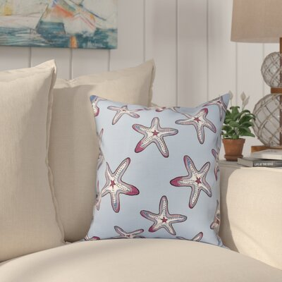 Cedarville Soft Starfish Geometric Print Outdoor Throw Pillow Size: 18 H x 18 W, Color: Blue/Purple
