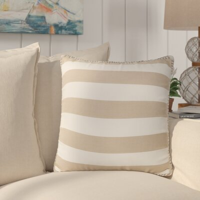 Stowe Modern Striped Throw Pillow Pillow Cover Color: Taupe