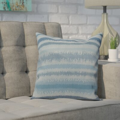 Dorazio Raya De Agua Indoor/Outdoor Throw Pillow Size: 18 H x 18 W, Color: Light Blue