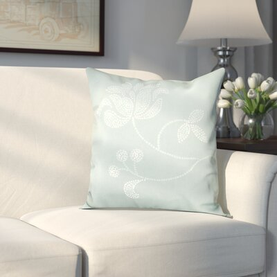 Maniteau Flower Bloom Print Throw Pillow Size: 18 H x 18 W, Color: Green