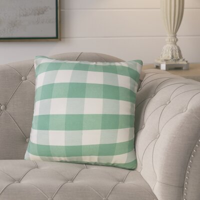 Bhavna Plaid Down Filled 100% Cotton Throw Pillow Size: 22 x 22, Color: Green