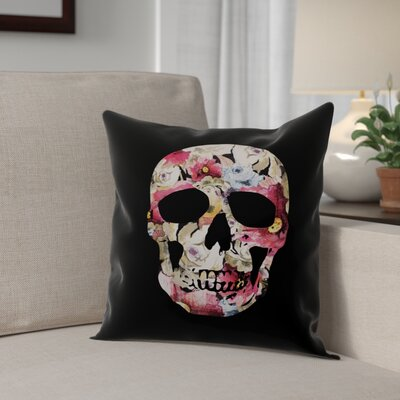 Skull Throw Pillow Pillow Use: Indoor
