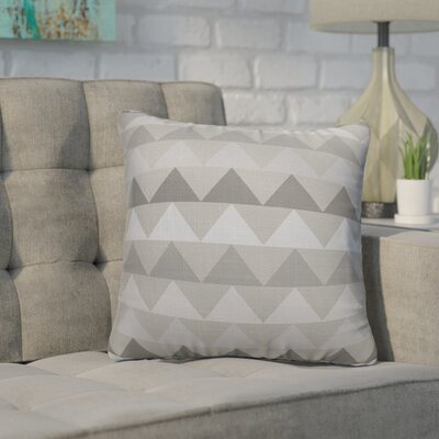 Gavin Burlap Indoor/Outdoor Throw Pillow Size: 16 H x 16 W x 5 D, Color: Grey
