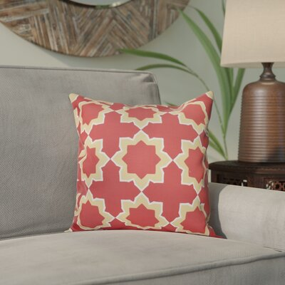 Meetinghouse Bohemian 2 Geometric Print Throw Pillow Size: 26 H x 26 W, Color: Coral