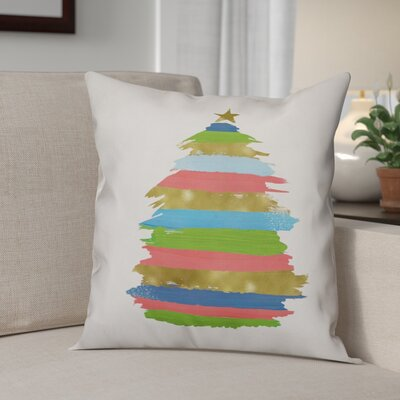 Christmas Tree Throw Pillow Size: 16 x 16, Type: Throw Pillow