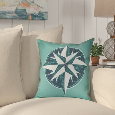 Hancock Compass Geometric Print Outdoor Throw Pillow Size: 18 H x 18 W, Color: Green