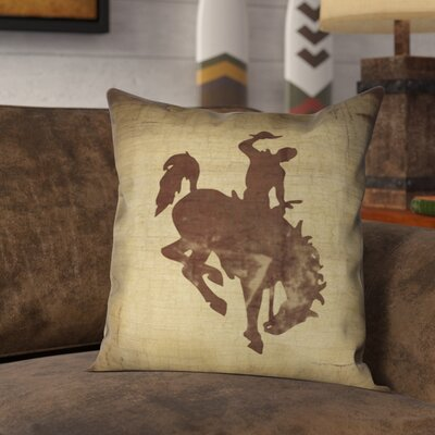 Donald Welcome to the Ranch Outdoor Throw Pillow Size: 18 x 18