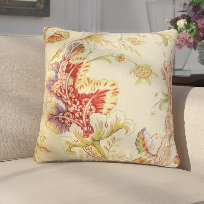 Gofried Floral Throw Pillow Color: Yellow