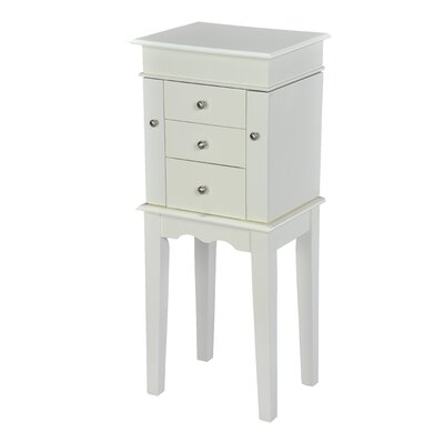 Hummer Free Standing Jewelry Armoire Color: White