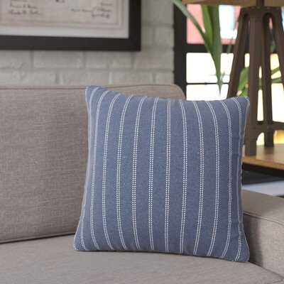 Jonathan Burlap Brick Throw Pillow Size: 16 H x 16 W x 6 D, Color: Indigo