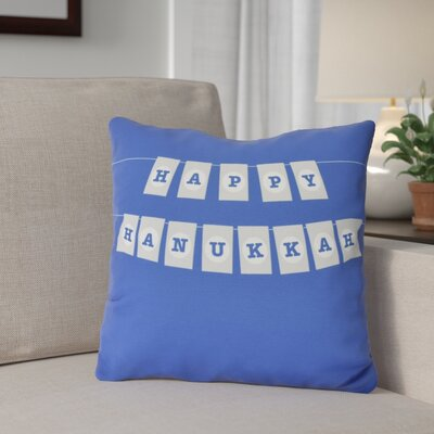 Banner Day Outdoor Throw Pillow Size: 16 H x 16 W, Color: Royal Blue