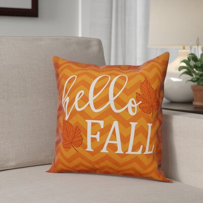 Hello Fall Chevron Pillow Cover