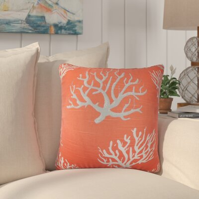 Martinique Coastal Cotton Throw Pillow Color: Pink