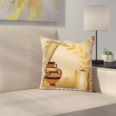 Hellenic Heritage Square Cushion Pillow Cover Size: 18 x 18