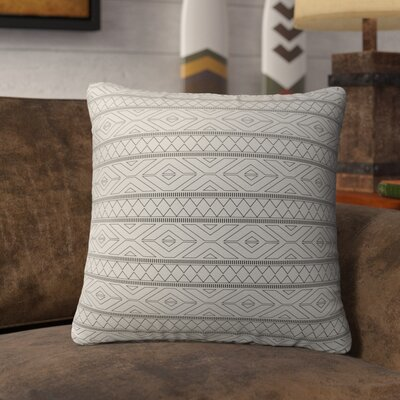 Barbosa Burlap Indoor/Outdoor Throw Pillow Size: 26 H x 26 W x 5 D, Color: Black/ Ivory