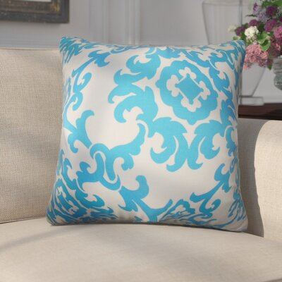 Fabrizio Floral Throw Pillow Color: Blue