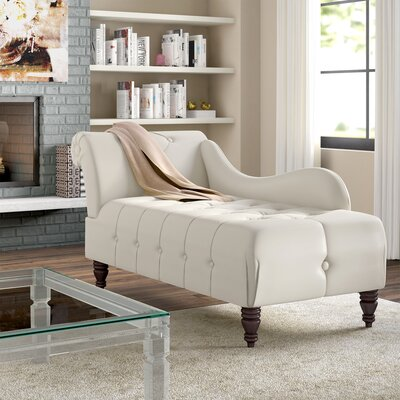 Hurd Chaise Lounge Upholstery: Ivory