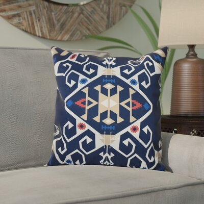 Meetinghouse Jodhpur Medallion Geometric Outdoor Throw Pillow Size: 20 H x 20 W, Color: Navy Blue