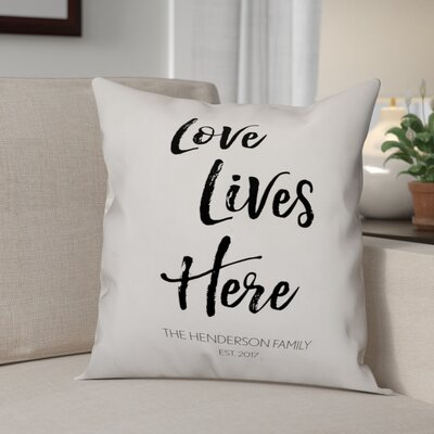 Elezi Love Lives Here Throw Pillow