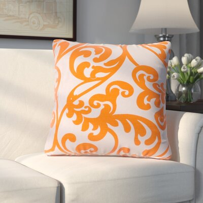 Chalfont Throw Pillow Color: Tangerine