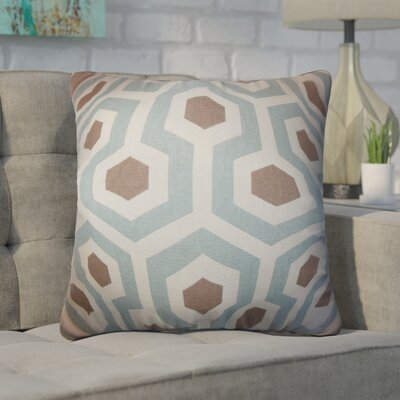 Wolfenbarger Geometric Cotton Throw Pillow Color: Light Blue