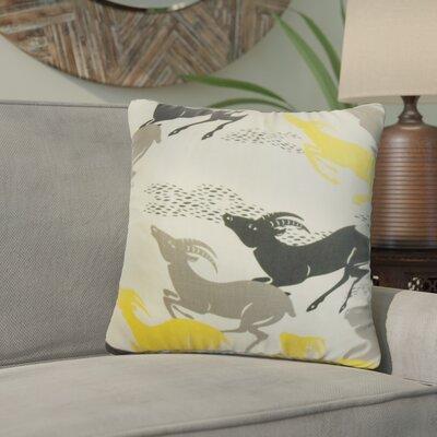 Ash Creek Animal Print Cotton Throw Pillow Color: Yellow