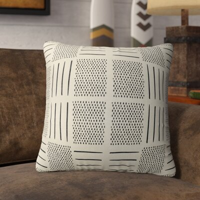 Couturier Square Throw Pillow Color: Ivory, Size: 16 H x 16 W