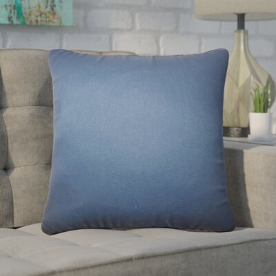 Desma Solid Cotton Throw Pillow Color: Blue