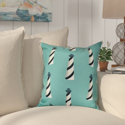 Hancock Beacon Geometric Print Outdoor Throw Pillow Size: 18 H x 18 W, Color: Green