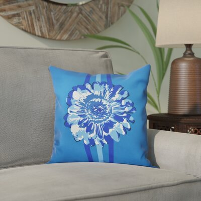 Willa Flower Child 2 Throw Pillow Size: 26 H x 26 W, Color: Blue