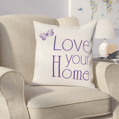 Graves Embroidery Throw Pillow (Set of 2) Color: Plum