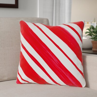 Candy Stripe Throw Pillow Size: 16 x 16